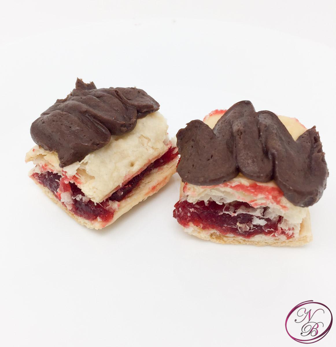 Mini Chocolate Raspberry Neopolitan