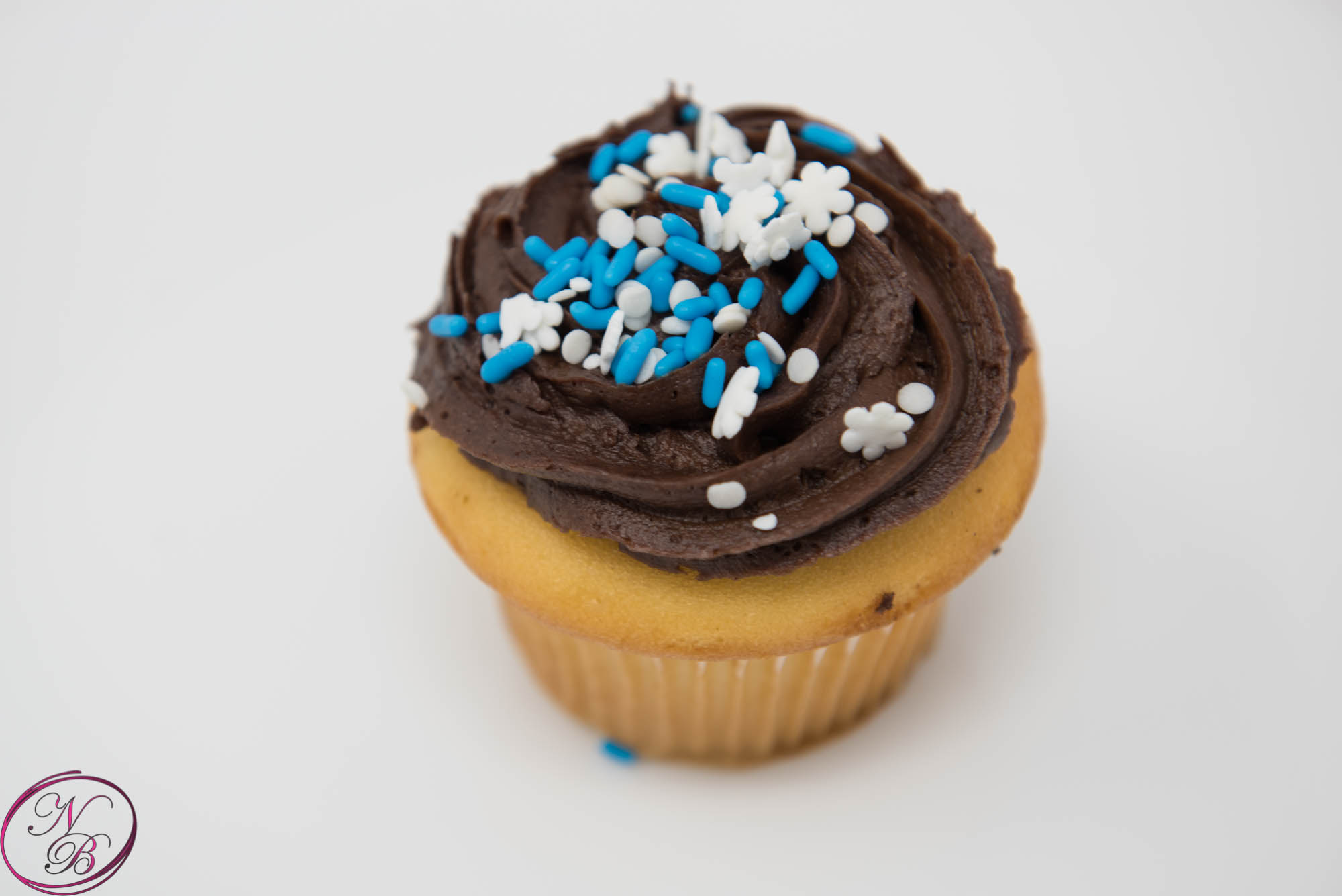 Vanilla W/ Chocolate Frosting Cupcake